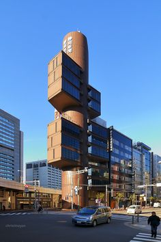 Shizuoka Shinbun I& Broadcasting Inc Building (静岡新聞・静岡放送ビル) / Architect by Kenzo Tange (設計:丹下健三)