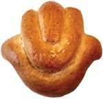 Challah can be shaped into many designs.  Choose your favorite.