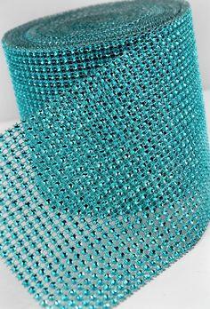 Tiffany Blue Diamond Mesh Wrap 10 Yards $28.00 via- Save on Crafts