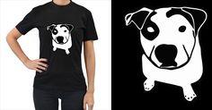 Pit+Bull+T+Bone+Graphic+Women's+T+Shirt+(black)+Women's+T-Shirt+(Black)