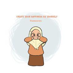 Cute Cartoon Quotes, Cute Quotes, Cartoon Kids, Cartoon Art, Beautiful Pictures With Quotes, Quotes Lucu, Islamic Cartoon, Anime Muslim, Hijab Cartoon