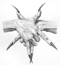 INTENTA HACERLO!! Tattoo Sketches, Tattoo Drawings, Art Sketches, Arte Horror, Horror Art, Anime Hand, Ink Poisoning, Satanic Art, Satanic Tattoos