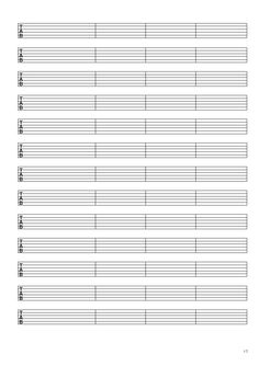 bass tab paper Download 4 string bass tab 300 pages of lined paper 300 blank lined tab for bass and 4 strings 4 string bass tab pdf (bass recorded versions) a must-have for any bass player.
