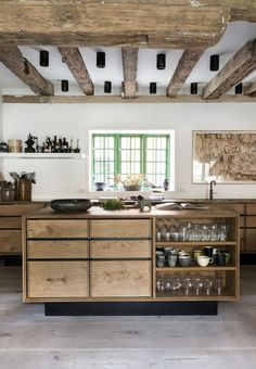 Kitchen wall is the essential side of our kitchen, the wall became the first view. That's why kitchen wall ideas became the most important thing. Interior Design Kitchen, Kitchen Decor, Kitchen Ideas, Chef Kitchen, Decorating Kitchen, Diy Kitchen, Decorating Ideas, Modern Kitchen Island, Kitchen Islands