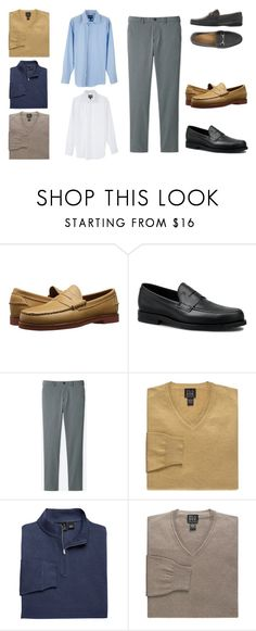 """""""Casual Work"""" by chumiller22 on Polyvore featuring Allen Edmonds, Tod's, Uniqlo, men's fashion and menswear"""