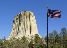 """Devils Tower, Wyoming.  This was filmed in the movie """"Close Encounters of the Third Kind"""""""