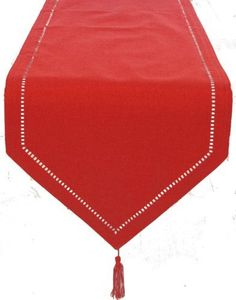 Xia Home Fashions 15 by 90-Inch Melrose Easy Care Cutwork Hemstitch Table Runner, Red by Xia Home Fashions. $28.06. Cutwork hemstitch border. 100-Percent Poliviscose. Machine Washable; Made with easy care poliviscose. Solid color faux hemstitch easy care table linens add simple sophistication with the added bonus of easy care. Mix and match colors to create a unique look of your own.