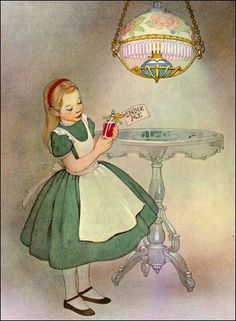 I owned this Alice in Wonderland book as a child. I love the art!