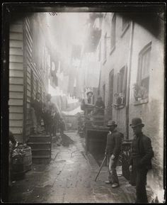 Bandits Roost. 1880s. Mulberry Bend represented one of the worst slums in world. This a Jacob Riis photo of Bandits Roost.