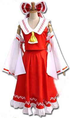 Relaxcos Touhou Project Hakurei Reimu Dress Outfits Cosplay Costume *** Learn more by visiting the image link.