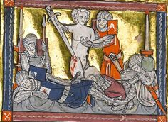 The Rochefoucauld Grail  Lancelot's attempt at suicide is stopped by another knight