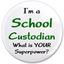 "school custodian 3.5"" Button"