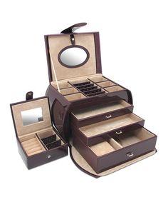 Look what I found on #zulily! Polished Plum Diana Leather Purse Jewelry Box Set #zulilyfinds