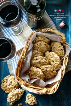 Gluten-Free Oatmeal, Chocolate Chunk & Cranberry Pecan Cookies | via FamilyFreshCooking