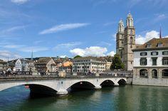 Downtown Zurich, Zurich, Switzerland.