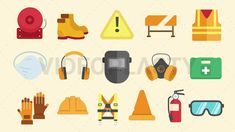 Safety Equipment Icons Pack [MOV & GIF]