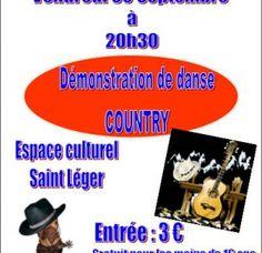 Démonstration de danse country