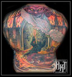 Andrew R Trull/ custom tattoo artist Back Pieces, Neo Traditional, Custom Tattoo, I Tattoo, Tattoo Artists, Fashion Art, Painting, Color, Design