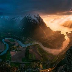 Drone View of #Romsdal, #Norway  #RomsdalTravel #NorwayTravel #NorwayTourism #traveldiary #dronephotography #thedronetravel