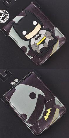 [Visit to Buy] Comics DC Marvel Cartoon PVC Bags Kids Wallets Cool Batman Creation Purse Fashionable Durable Wallet carteira feminina  #Advertisement