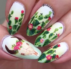 Do you need some new nail inspiration? These bold Western manicures will get you compliments left and right. Treat yourself to a manicure this weekend. Halloween Nail Designs, Halloween Nail Art, Western Nails, Country Nails, Diy Acrylic Nails, Skull Nails, Cow Nails, Long Brown Hair, Black Hair