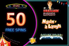 Vegas Mobile Casino offers exciting #free #spins for its beloved players. You can win 50 FREE spins on selected games like Ocean's Hoard, Dreamin' Riches, Havin' A Laugh. Go and grab the chance. Hurry!! Up Limited period offer https://www.vegasmobilecasino.co.uk/slots/