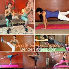 Weekly Workout Schedule: Week 22 | Bender Fitness Weekly Workout Schedule, Melissa Bender, Workout Videos, Marathon, Fitness, Arm, January 1, Arms, Marathons