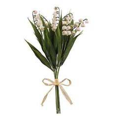 2 x #lovely  artificial lily of the #valley  bush - 6 flower stems in & #outdoors,  View more on the LINK: 	http://www.zeppy.io/product/gb/2/252136246704/