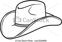 Drawing A Cartoon Cowboy Hat Hobby Cowboy Hat Drawing Drawing