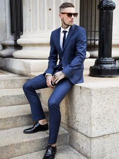 dudesmodernos:  Summer suit up in blue