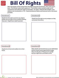 a printable matching game and lesson plan ideas for teaching the bill of rights government. Black Bedroom Furniture Sets. Home Design Ideas