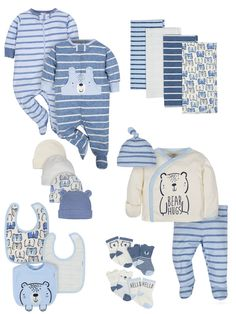 Newest For Organic Baby Clothes Walmart Baby Outfits Newborn, Baby Boy Outfits, Kids Outfits, Teddy Clothing, Gerber Baby, Organic Baby Clothes, Girls Pajamas, Dad To Be Shirts, Baby Sweaters