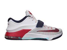 buy popular ed092 ec140 Nike KD 7 Independance Day - Chaussure De Basket-ball pour Homme Pas Cher  Blanc