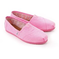 Toms Pink Florescent Palmetto ❤ liked on Polyvore