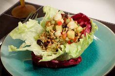 Salada de trigo germinado