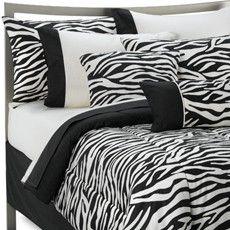 Kampula Complete Bed Ensemble with pink or red sheets! Bedroom Sets, Dream Bedroom, Bedding Sets, Bedroom Decor, Comforter, My New Room, My Room, Zebra Print Bedding, Wildlife Home Decor