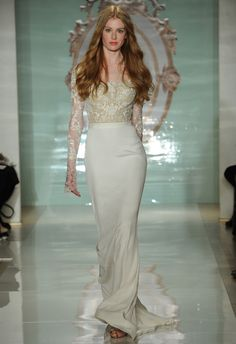 Sheer illusion lace sleeves were spotted on the Reem Acra Spring 2015 runway! Love love love. MCV photo/The Knot blog