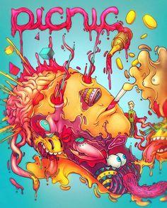 Une nouvelle sélection d'illustrations énergiques aux couleurs pop et explosives issues du portfolio de Raul Urias, un illustrateur Mexicain dont nous avions