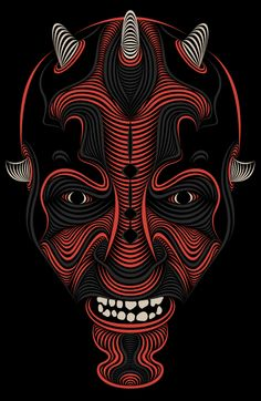 Brilliant digital art and illustration of Patrick Seymour will be displayed. His work is totally simple. If you find out you'll see that his work be made Patrick Seymour, Contour Drawing, Art Et Illustration, Darth Maul, Art Graphique, Star Wars Art, Safari Nursery, Oeuvre D'art, Yin Yang