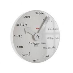 24h Sentence maker design klok - Alessi - Marti Guixe. Bij Flinders vind je prachtige Design Meubels, Moderne Verlichting en de leukste Woonaccessoires. #klok