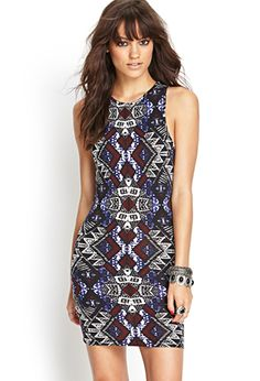 $19.80. Tribal Print Bodycon Dress | FOREVER21 - 2000060468