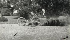 Jean Haguet and Louis Ferrand During the Bobsled Race at the Chateau de Rouzat, September 1, 1911. Jacques Henri Lartigue