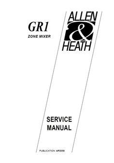 Allen & Heath GL-2400 Console , Original Service Manual