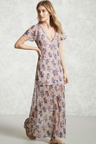 Forever 21 FOREVER 21+ Floral Print Lace Maxi Dress