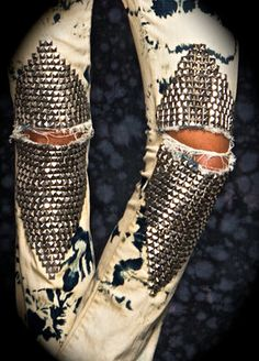Studded.....jeans? I have no CLUE why I like these, they look like the love child  crack baby of early Madonna and Janet Jackson, but I do. I love them.