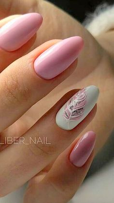 Over 50 beautiful nail design ideas for feather nails - page 74 of 99 - nail-de . , Over 50 beautiful nail design ideas for feather nails - page 74 of 99 - nail-de . Gorgeous Nails, Love Nails, How To Do Nails, Fun Nails, Pretty Nails, Nails 24, Pink Gel Nails, Happy Nails, Perfect Nails