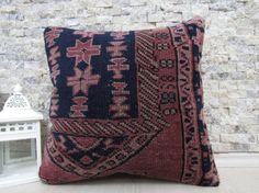16x16 floor cushion decorative carpet pillow sofa pillow bohemian pillow 16x16 handmade carpet pillow natural pillow throw pillow