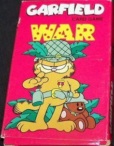 "Bicycle ""Garfield"" War card game"