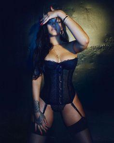 Rihanna Slips into Seductive Black Corset to Preview Her Savage x Fenty Lingerie Line: 'Damn'