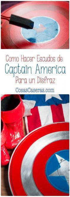 Ningún disfraz de Capitán América sería completo sin el escudo. Os enseño hacer escudos de Capitán América, usando 2 métodos distintos.